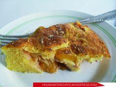 Кукурузный пирог с нектаринами