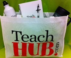GIVEAWAY ALERT!  For your chance to win these TeachHUB goodies (a tote, water bottle, notebook & mug) simply REPIN this to any of your Pinterest boards!  Enter by Wednesday July 25th at 4pm CST.  Must be U.S. resident to win and winner will be chosen at random and announced on the TeachHUB Facebook page.  Happy Pinning :-)