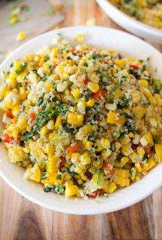 Grilled Summer Corn and Quinoa Salad