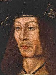 """Jacques IV d\'ECOSSE. Bataille de Guinegatte, siège de Tournai: quelques jours avant la chute de Tournai, Catherine d'Aragon avait dépêché John Glyn auprès d'Henri VIII pour lui faire remettre la cote et les gantelets ensanglantés  de Jacques IV d'Ecosse. Catherine suggérait à son époux de se servir de ces dépouilles comme d'une bannière, et écrivit même qu'elle n'aurait pas hésité à lui envoyer le cadavre de son ennemi """"Si les cœurs anglais auraient pu s'y résoudre""""."""
