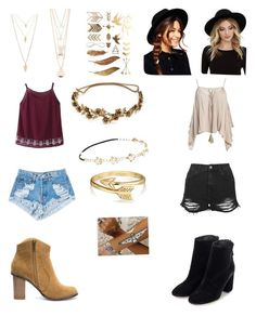 """""""Coachella"""" by gabriellemv on Polyvore featuring Topshop, Sans Souci, Levi's, Forever 21, Full Tilt, Jennifer Behr, Chicnova Fashion, Flash Tattoos, Bling Jewelry and ASOS"""