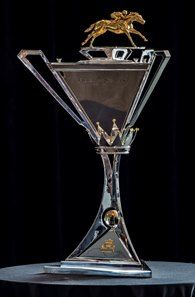The new Triple Crown trophy
