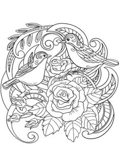 House Sparrow in Flowers coloring page from Sparrows category. Select from 31927 printable crafts of cartoons, nature, animals, Bible and many more. Adult Coloring Book Pages, Free Printable Coloring Pages, Coloring Pages For Kids, Coloring Books, Coloring Sheets, House Sparrow, Printable Pictures, Simple Illustration, Printable Crafts