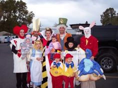 Homemade Alice in Wonderland Group Costume: My family got together and decided to do an Alice in Wonderland Group Costume.  We really got into the characters even talking and acting like them.  The