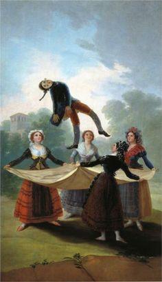 Francisco de Goya y Lucientes. The Straw Manikin. 1791. Oil on canvas. Genre Painting. 97x160cm. Museo del Prado, Madrid.