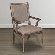 Compass Upholstered Back Arm Chair by Bassett Furniture