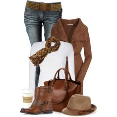 """""""Coffee and Cream"""" by johnna-cameron on Polyvore"""