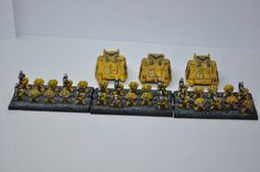 Gilly's Epic 30 Horus Heresy Imperial Fists Devastators (Heavy Support) Detachment.