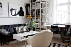 A home in Malmö, Sweden.Photo from the real estate agency Bolaget. — Designspiration