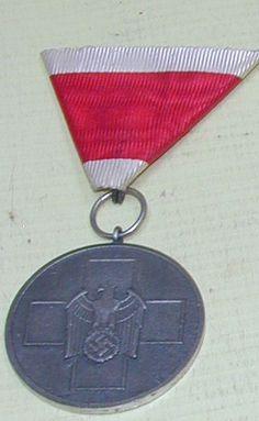 German Red Cross DRK Medal With Austrian Ribbon Mount.
