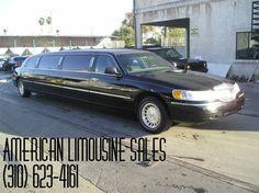 2001 LINCOLN Towncar Black 120-inch 10 Pass. Limousine #1042 - $12995   Visit our website at: Americanlimousinesales.com