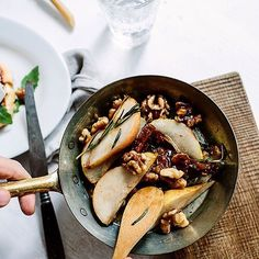 """What do you put on your French Toast? Marta @whatforbreakfast tops them with caramelized #pears with walnuts, rosemary, and arugula and camembert! Make this on the #weekend! #breakfast #brunch #frenchtoast http://feedfeed.info/french-toast?img=1053697 Get the recipe and 15+ more ideas and recipes from the French Toast feed on our WEBSITE, feedfeed.info/French-toast ⭐️Remember to share your cooking, baking, and drink making by tagging """"#feedfeed @thefeedfeed"""" for a chance to be featured here"""