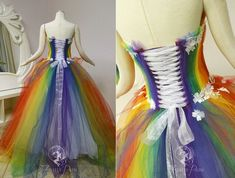 View the Costume Gallery Firefly Path has created for customers! Rainbow Outfit, Rainbow Fashion, Lgbt, Rainbow Wedding Dress, Rainbow Dresses, Rainbow Clothes, Rainbow Costumes, Rajputi Dress, Pride Outfit