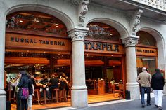 Euskal Taberna Barcelona, Spain. Great place, try to sit at the bar, where you can see all the different tapas or pintxos