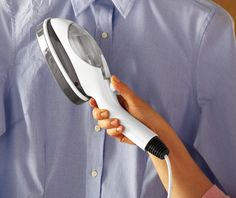 You may never use an iron again! This steamer is ideal for delicate fabrics, draperies, just about anything. Just plug it in and steam away wrinkles with an easy sweeping motion. Features a ready indicator light and comes with ironing accessory, pleating accessory, measuring cup and cleaning brush. - See more at: http://www.collectionsetc.com/Product/portable-iron-pleating-steamer-for-clothes-amp-draperies.aspx/_/N-3vqwck#sthash.a4P1aPLt.dpuf