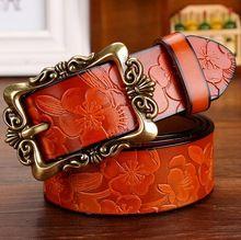 Tg   livraison gratuite bonne véritable en cuir femmes ceintures vintage  boucle en métal ceinture 8d4bd5e6b96