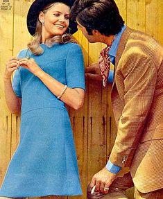 Kecia Nyman in blue knit jersey dress, Burda Moden, Octobe… | Flickr 1969 Fashion, Jersey Knit Dress, Supermodels, October, Knitting, Sweet, People, Photography, Blue