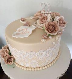 20 Ideas Birthday Cake Fondant Woman Flowers #flowers #cake #birthday