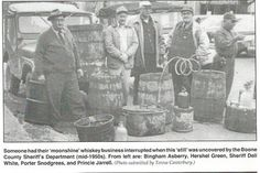 moonshine History west virginia | Photo: Throwback Thursday Boone Co Sheriff Boone County, WV Historical ...