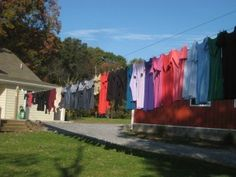 AmishHome and Clothes Line; Amish Quilter