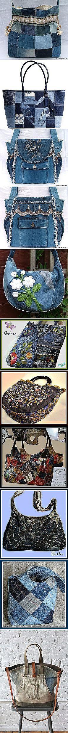 Beautiful denim bags