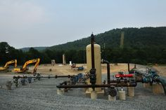 Fracking site in S Montrose, PA, June 19, 2012