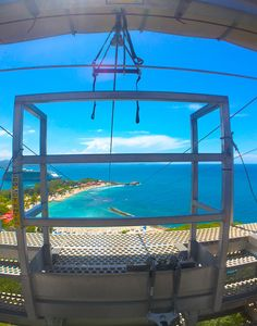 Dragon's Breath Flight Line. Take off from 500 feet above the beaches of Labadee and test the tradewinds on the zip-line.