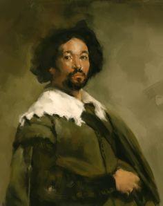 Diego Velasquez. Juan de Pareja,  retrato.