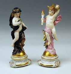 MEISSEN HEINRICH-SCHWABE DAY NIGHT UM 1890