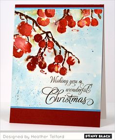 Featuring Penny Black's 2014 Christmas Collection, Season's Greetings