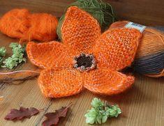 Ravelry: Big Flower pattern by Inna Sidorova Knitting Charts, Afghan Crochet Patterns, Knitting Patterns Free, Knitting Stitches, Knit Patterns, Flower Patterns, Knitting Needles, Free Knitting, Yarn Flowers