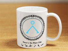 Received STARGATE EARTH SYMBOLS - THERE'S NO PLACE LIKE MUG