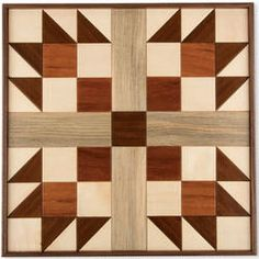 Handcrafted Bears Paw Wooden Quilt Block