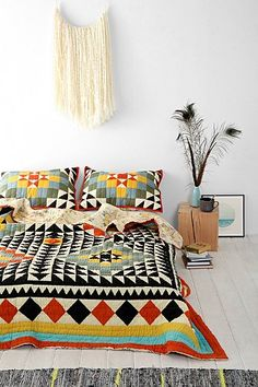 Kaleidoscope Patchwork Quilt - Urban Outfitters my dream quilt please someone buy it for me