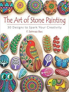 I could see myself getting addicted to Stone/rock painting, but I think it would be something the kids would love. Great quiet craft time activity and also great to give your end results as gifts! The Art of Stone Painting: 30 Designs to Spark Your Creat Stone Art Painting, Painting Words, Rock Painting Designs, Pebble Painting, Pebble Art, Paint Designs, Painting Stencils, Rock Painting Patterns, Diy Painting