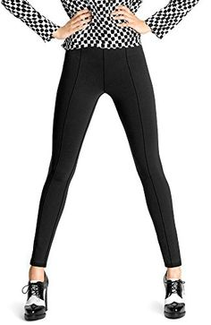 Hue Blackout Leggings (Extra Large, Black) -- Check this useful article by going to the link at the image. #WomensLeggings Hue Leggings, Darkest Black Color, Black Like Me, Seamless Leggings, Leggings Fashion, Work Wear, Hooded Jacket, Black Jeans