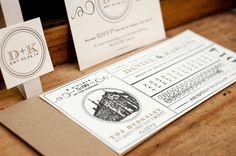 25 Two Colour Letterpress Printed Boarding by FossilLetterpress, $200.00