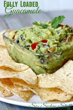 Fully Loaded Guacamole - The perfect Side dish!