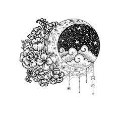 Moonlight ☆☆ now in the shop, link in profile. ♡ . . . (I may do a colour version at some point but fell in love with the black & white and couldn't not save it!) xxx