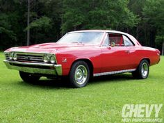 Beautiful '67 Chevy Chevelle SS and '68 Camaro