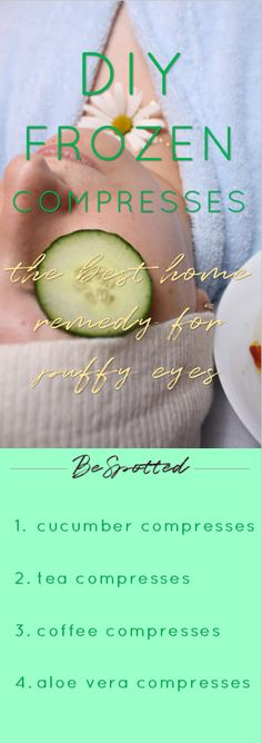 Home remedy for puffy eyes - DIY compresses for puffy eyes and dark circles will refresh your eyes, calm the redness and give your eyes a brighter look. Skin Care Regimen, Skin Care Tips, Eye Makeup Glitter, Vaseline Beauty Tips, Beauty Soap, Happy Skin, Puffy Eyes, How To Apply Makeup