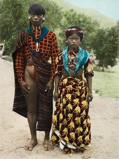 Kalinga couple in traditional dress
