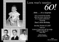 Free 60th Surprise Birthday Invitations | 60th Birthday Party Invitations on Surprise 60th Birthday Invitation