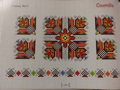 Folk Embroidery, Cross Stitch Embroidery, Embroidery Designs, Cross Stitch Tree, Cross Stitch Books, Beaded Cross, Cross Patterns, Bulgarian, Christmas Cross