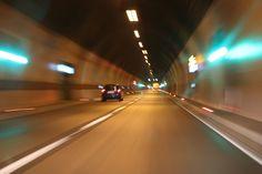 tunel, carretera, coche, velocidad, luces, 1708282143