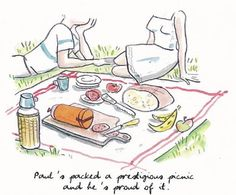 Life's a picnic! Drawing by Alice Charbin for www.hermes.com #hermes