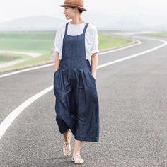 Blue linen overalls BonLife by BonLife on Etsy