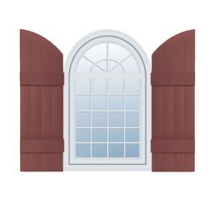 """Mid-America J4A14 14"""" Four Board Arch Top - Joined Custom Window Shutters, w/Painted Screws for Installation (Per Pair) Shutters - Vinyl162330 - ArchitecturalDepot.com"""