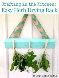 How to Make a DIY Herb Drying Rack