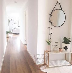 Wooden floors white walls